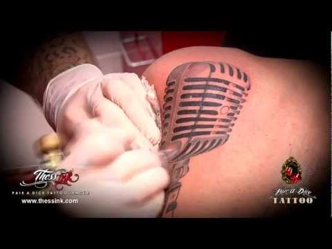 Pair a Dice tattoo league (microphone)