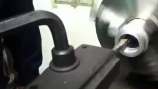Spiral oil groove cutter.  Figure eight.