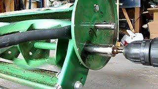 How to sharpen a Scott's reel mower