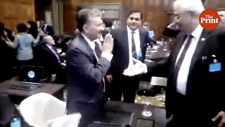Indian diplomats shun handshakes, resort to namaskar, with Pakistan's delegation at ICJ in The Hague