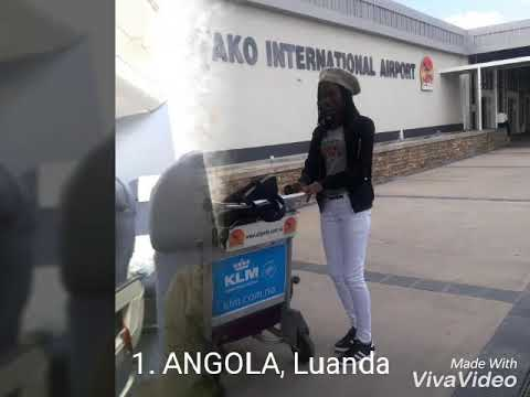 My first country to land in. Angola, Luanda