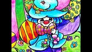 drawing a Precious Moments Clown / 描画 かわいい ピエロとともに バルーン