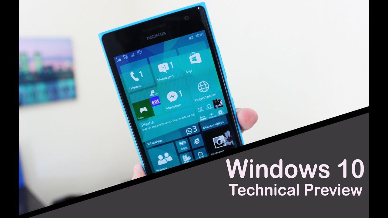 Download Novidades - Windows 10 Mobile Technical Preview