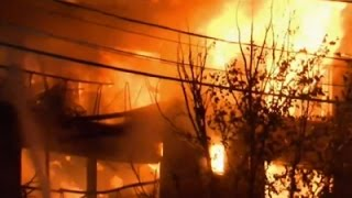 Raw: Massive Apartment Building Fire Near DC