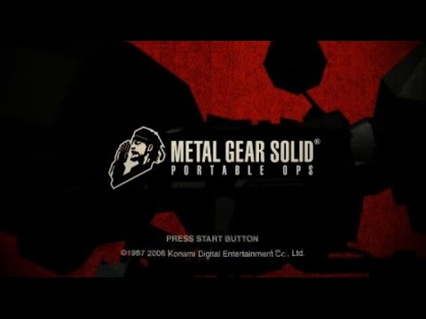Metal Gear Solid Portable Ops No Save SpeedRun【RTA 1h6m2s】【IGT 53m】