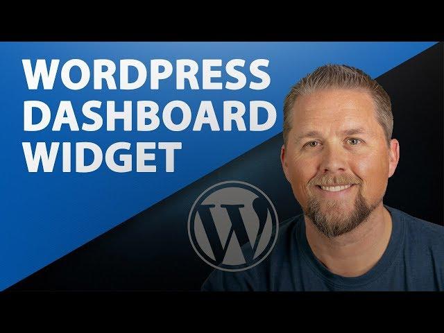 WordPress Admin Dashboard Widget - How to create a dashboard widget - WordPress Tutorial