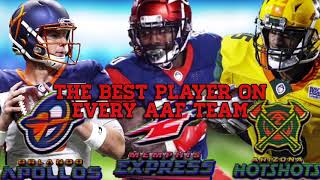 The Best Player On Every AAF Team |NFL|AAF