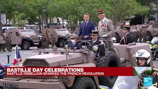 Emmanuel Macron arrives at the Champs Elysees for France's Bastille Day celebrations • FRANCE 24