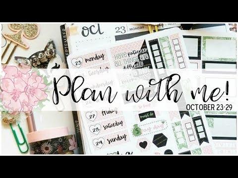 Plan with Me! October 23-29 in my Erin Condren Life Planner