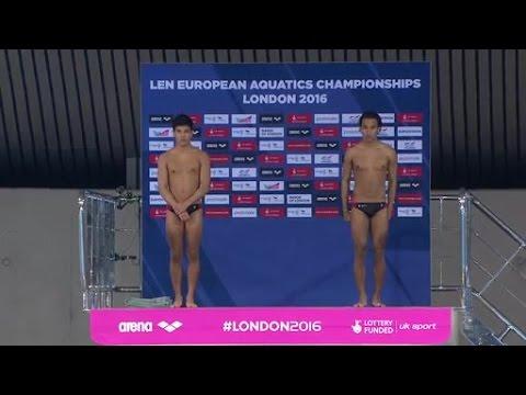 With stadium speaker - European Diving Championships - London 2016 - Men's 10m Platform Syncro Final