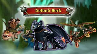 Defend Berk With Toothless, Stormfly, Hookfang, Barf & Belch, and Meatlug | Dragons: Rise of Berk