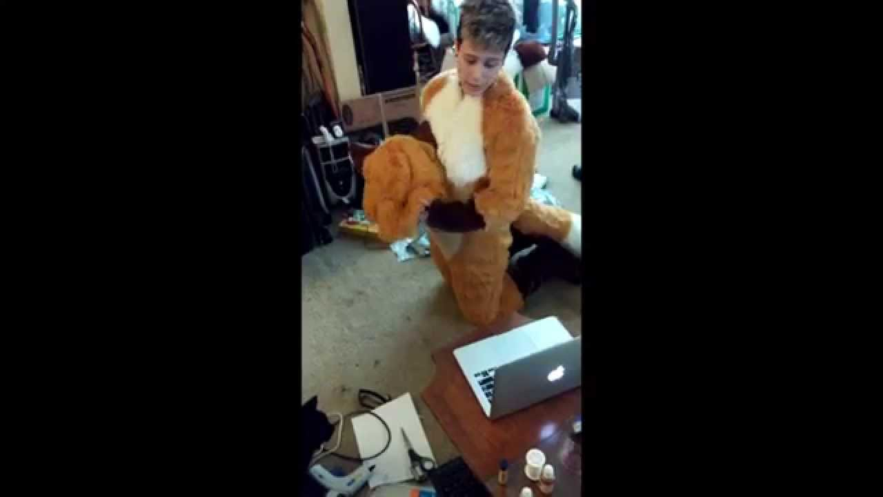 Hogger Cosplay Suit Up: how to become a gnoll #wantedHogger - YouTube