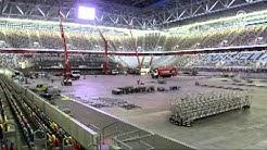 ESC Eurovision Song Contest 2011 Germany  - Umbau der Düsseldorf Arena
