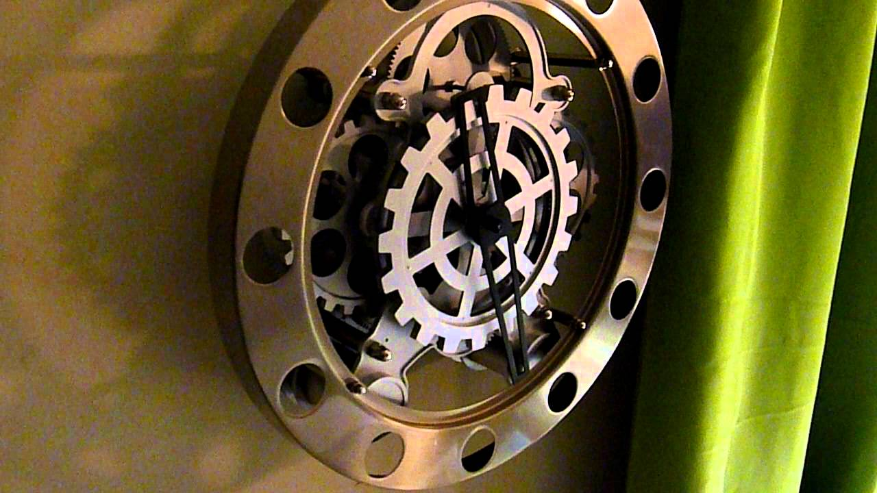 Kikkerland Gear Wall Clock Youtube