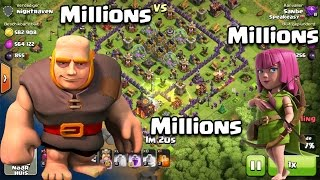 Clash of Clans - Loot in the MILLIONS