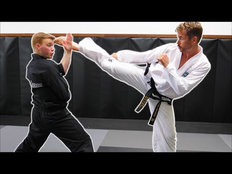 Ginger Ninja Trickster Vs World Champion | Taekwondo Fight