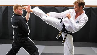 Ginger Ninja Trickster Vs World Champion | Taekwondo Fight