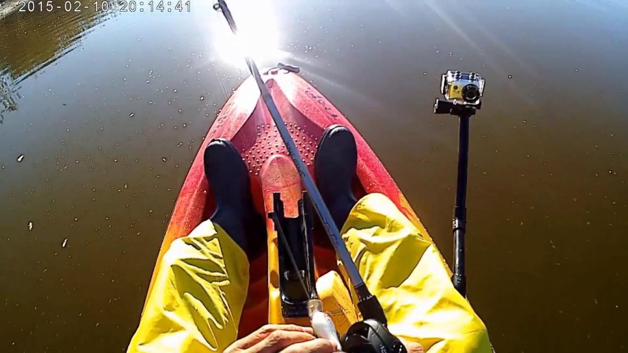 Kayak fishing at santa fe dam youtube for Santa fe dam fishing