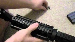 Installation of 2-piece quad rail on a Carbine AR-15