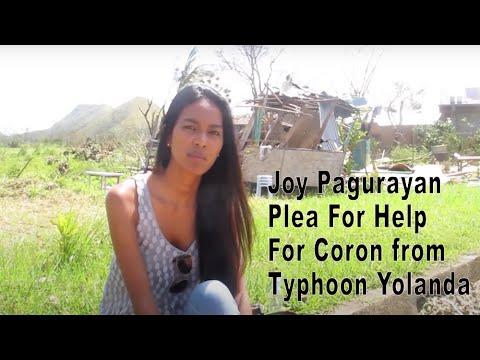 Joy Pagurayan plea for help for Coron from Typhoon Yolanda