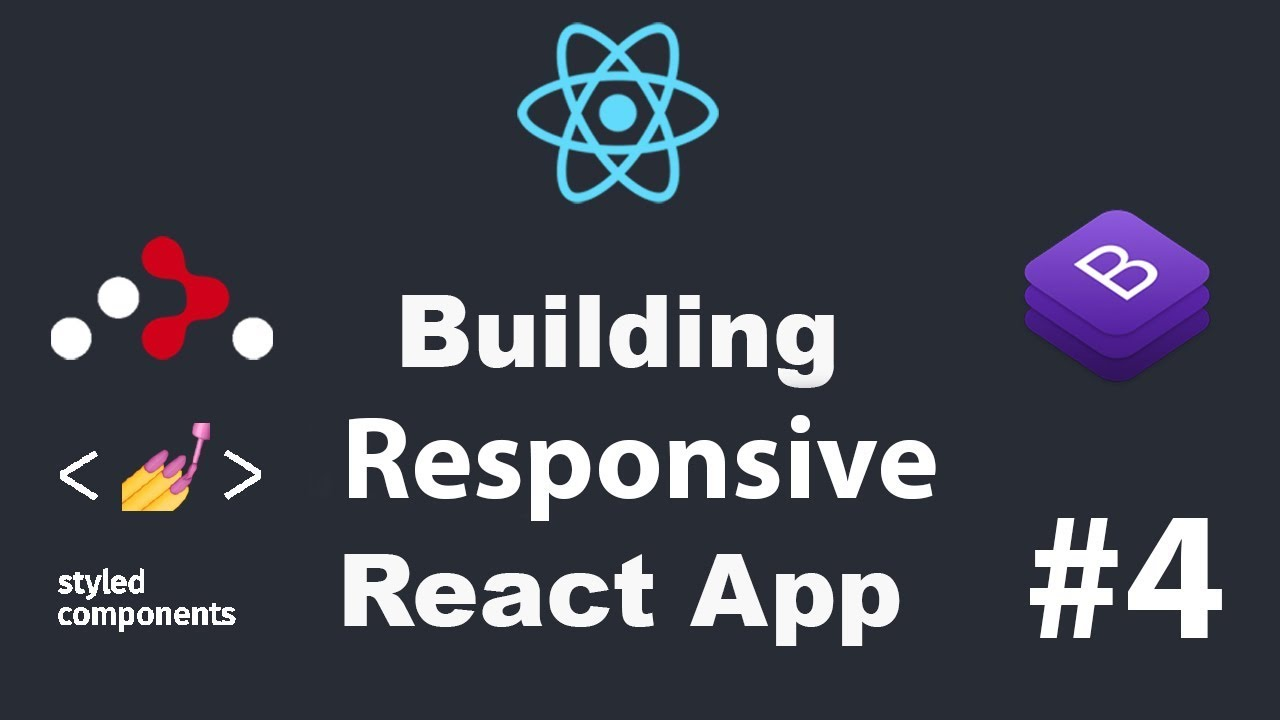 ⚛ #4 ReactJS Build Website Navigation Bar Using Bootstrap | Create React  App Responsive Menu