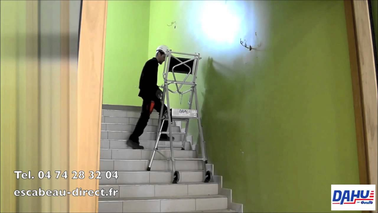 escabeau pour escalier escabeau direct matis re youtube. Black Bedroom Furniture Sets. Home Design Ideas