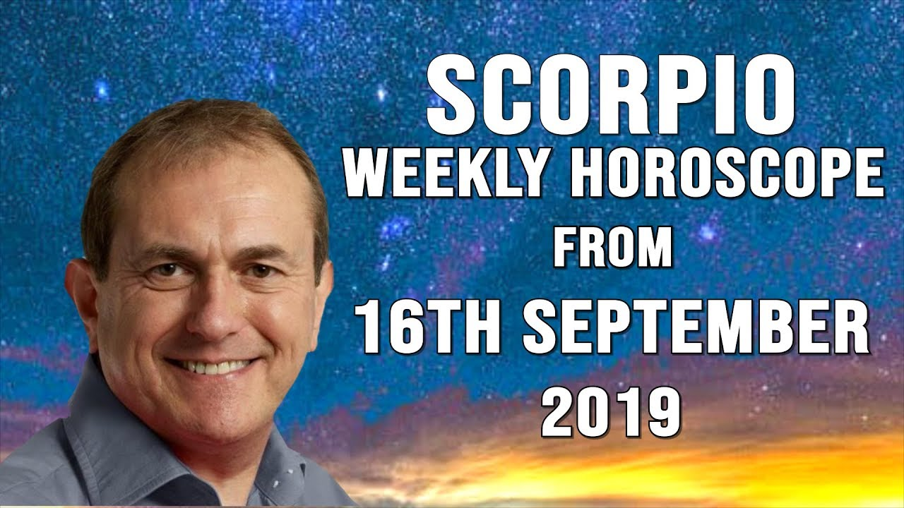 Scorpio Weekly Horoscope 16th September 2019 - Events speed up now!