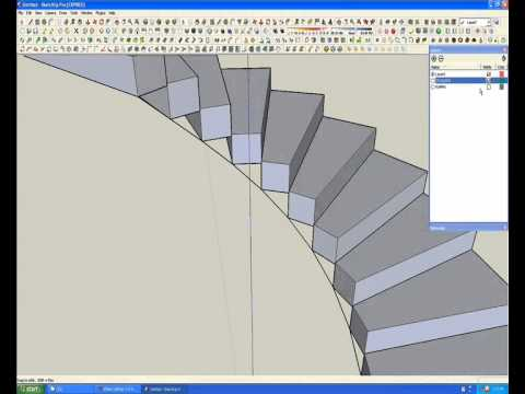 Jorge camilo modelado de una escalera caracol wmv youtube for Como hacer escaleras de caracol de concreto