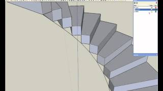 Tutorial sketchup formas helicoidales 1 muelle y rampa for Como trazar una escalera de caracol de concreto