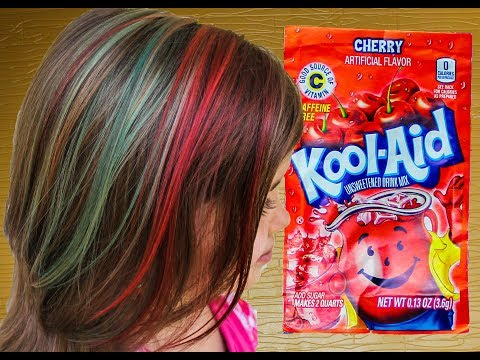 Rainbow Kool-Aid Dyed Hair for KIDS like Rainbow Dash DIY How to dye your hair with kool-aid