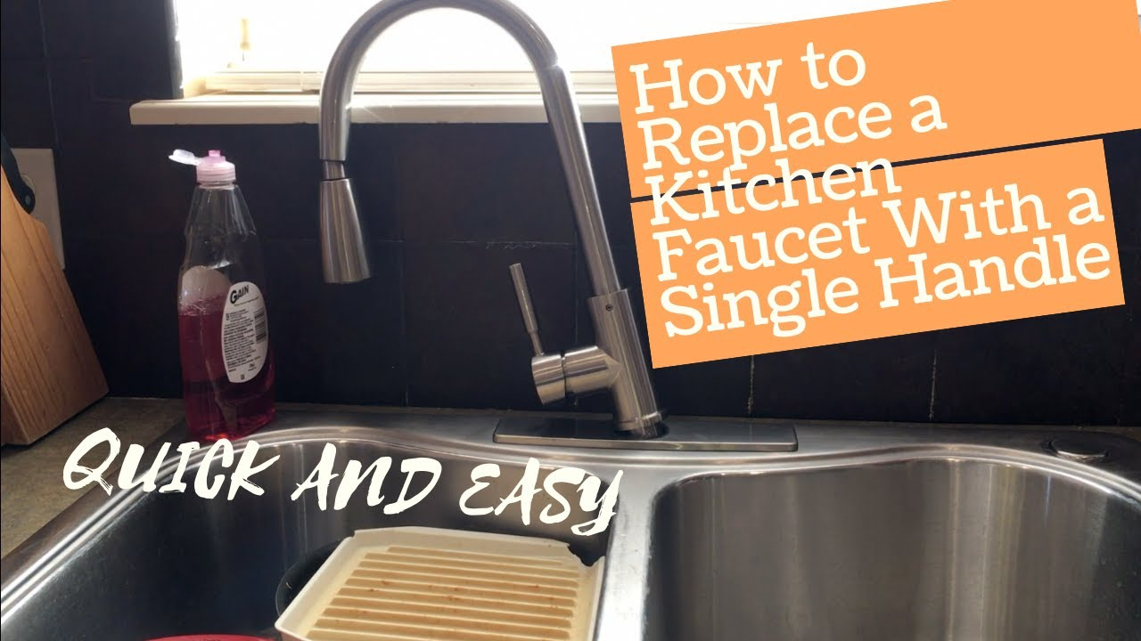Convert Two Handle Kitchen Sink Faucet To Single Handle Youtube