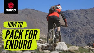 What To Pack For Enduro Racing & Riding | MTB Essential Spares
