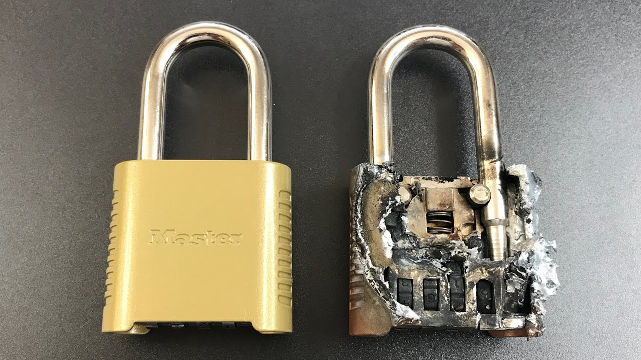 639 Master Lock 875 Melted Open Youtube