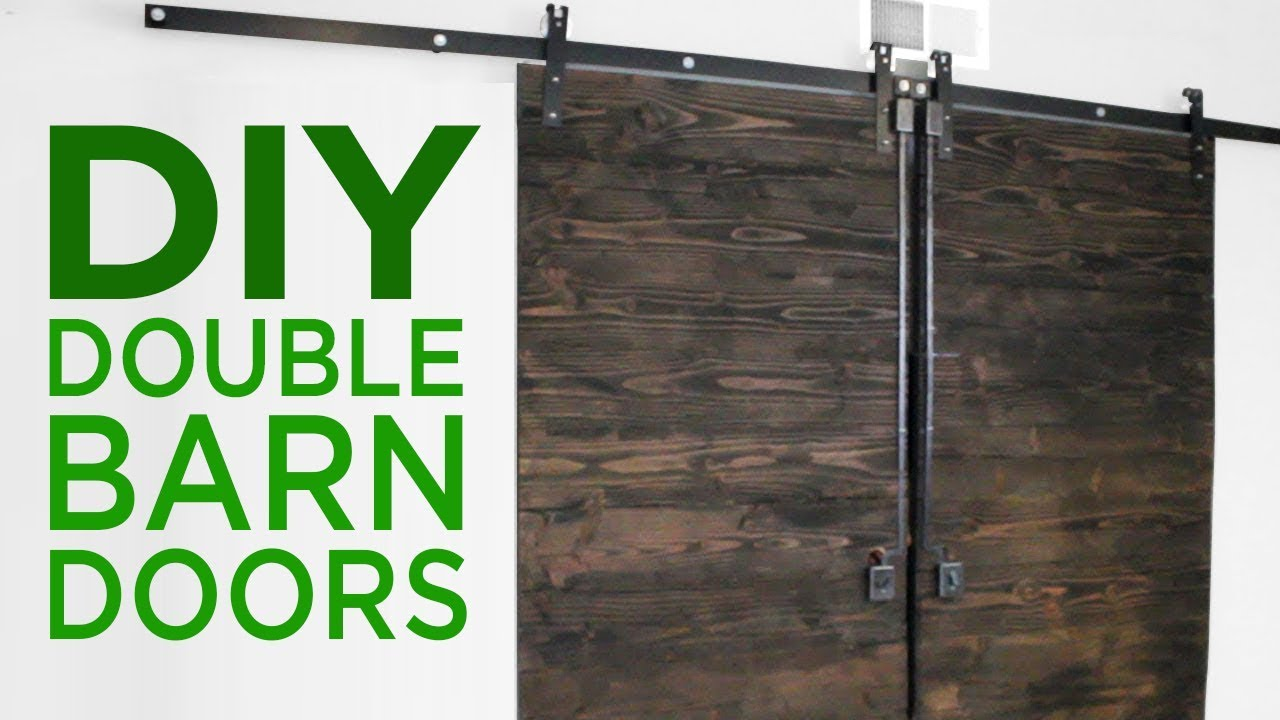 Diy Rustic Double Barn Doors 17 Youtube