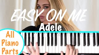 How to play EASY ON ME - Adele Piano Tutorial (Chords Accompaniment)