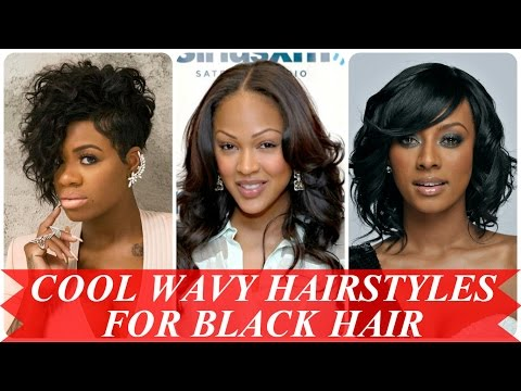 Cool wavy hairstyles for black hair