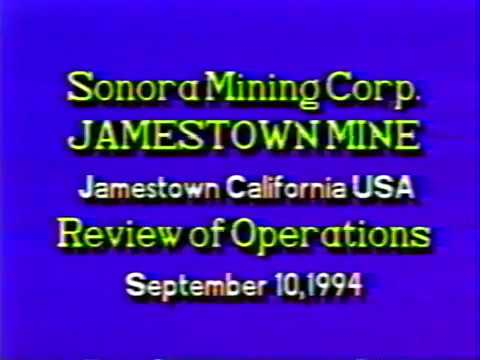 Sonora Mining Company Jamestown Mine closure.