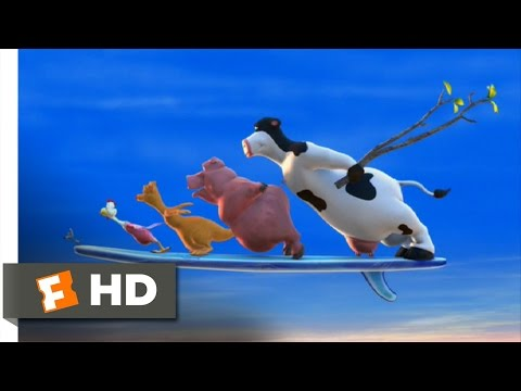 Barnyard (1/10) Movie CLIP - Farm Surfing (2006) HD