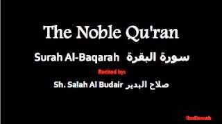 002 Surah Al-Baqarah - Sheikh Salah Al Budair