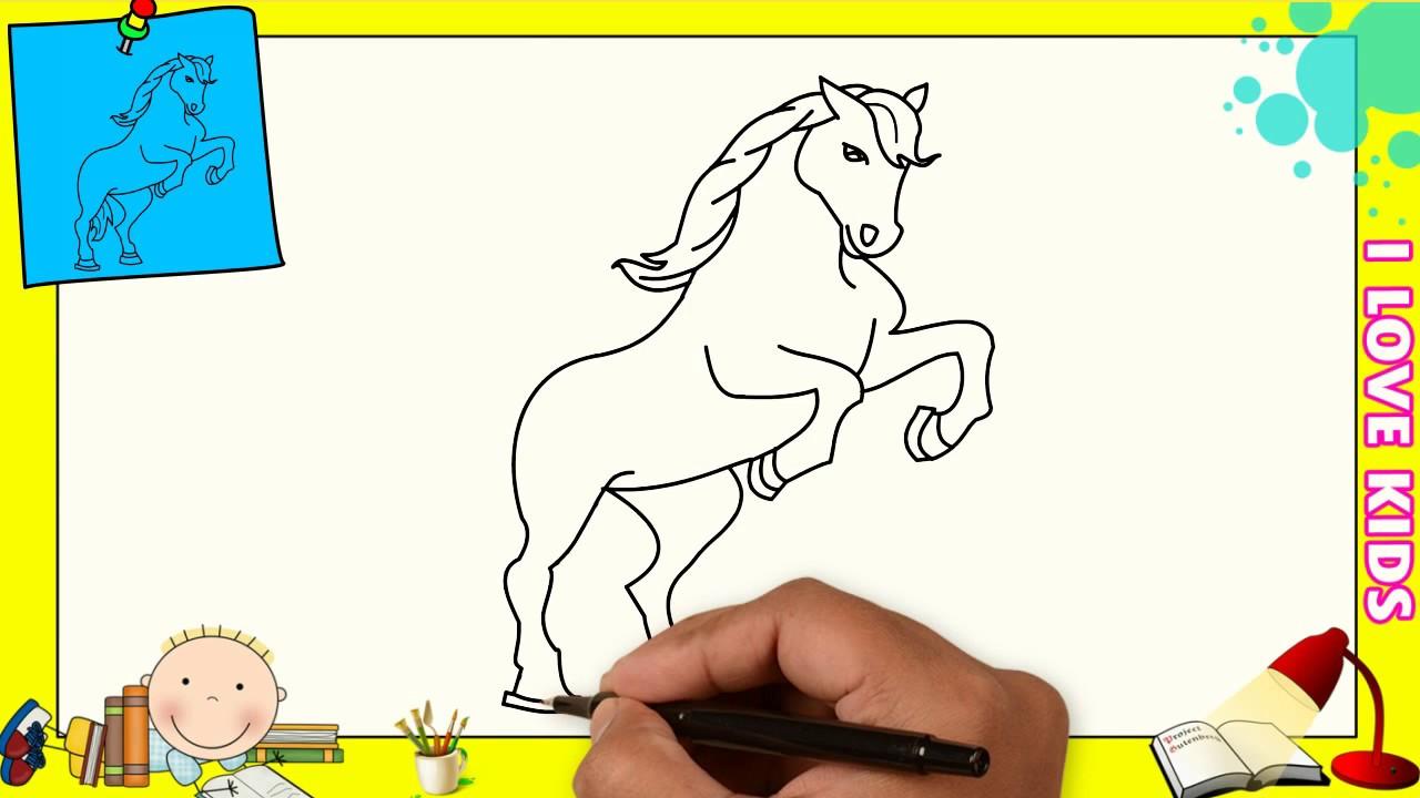 Dibujos De Caballos Faciles Paso A Paso Para Niños Como Dibujar Un