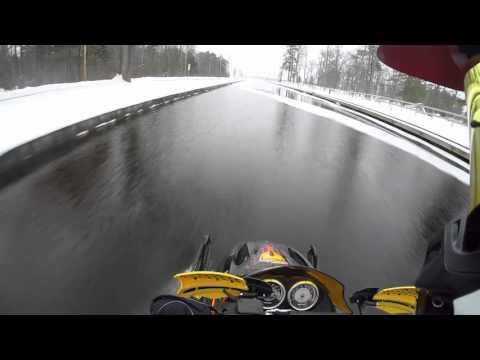 Lake Cadillac/Mitchell Canal Snowmobile Run