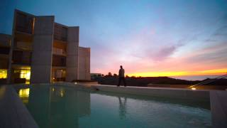 After Sunset of Winter Solstice at Salk Institute