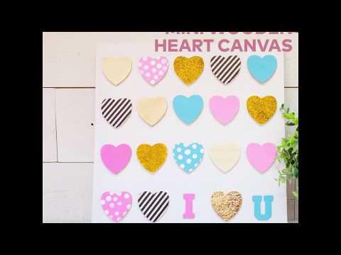 DIY Mini Wooden Heart Canvas