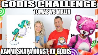 GODIS CHALLENGE TOMAS VS MALIN *KAN VI SKAPA KONST AV GODIS*