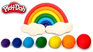 Play Doh Rainbow How to Make DIY Rainbow Easy Clay Modelling for Kids