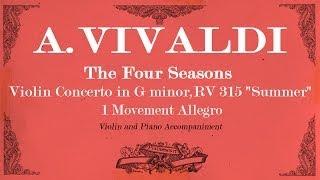 A.Vivaldi Violin Concerto in G minor The Four Seasons