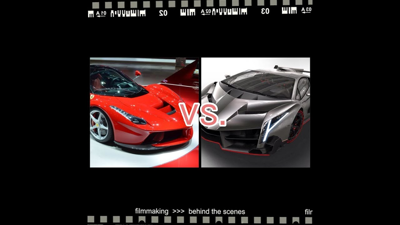 ferrari laferrari vs lamborghini veneno youtube. Black Bedroom Furniture Sets. Home Design Ideas