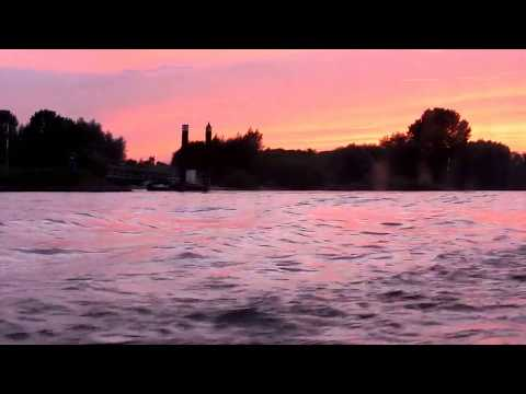 speeding-along-at-sunset---the-magical-river-rhine,-germany