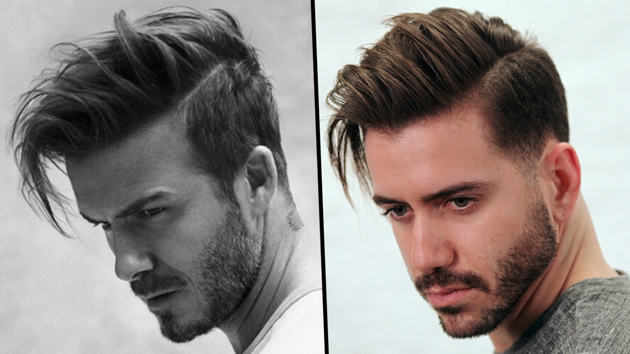 How Does David Beckham Style His Hair Awesome David Beckham Hairstyle Tutorial  How To Style Men's Hair 2017 .
