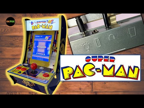 Arcade1up Super PAC-Man Countercade Unboxing and Overview!  New features, new ports, MicroSD card! from 19kfox
